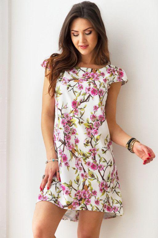 Sukienka Oversize W Kwiaty Wisni Vestidos Roupas