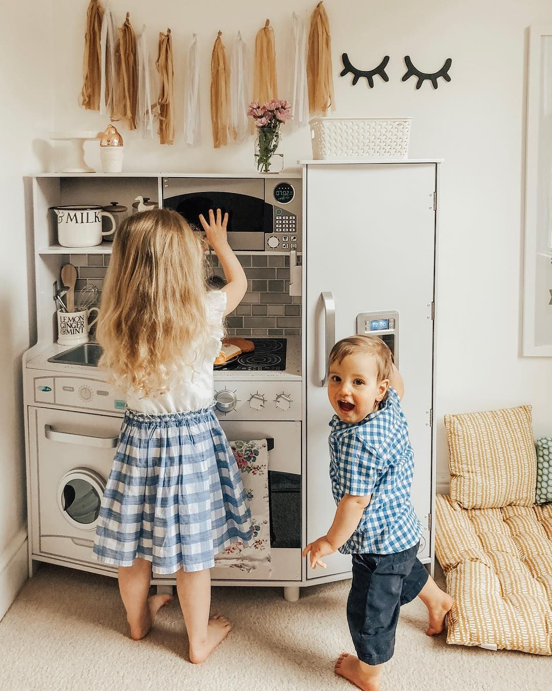 Large Play Kitchen with Lights & Sounds White in 2020