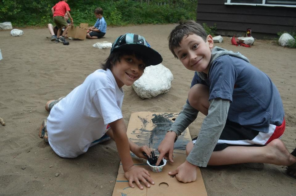 Arts and Crafts Time at Camp Kitchikiwana