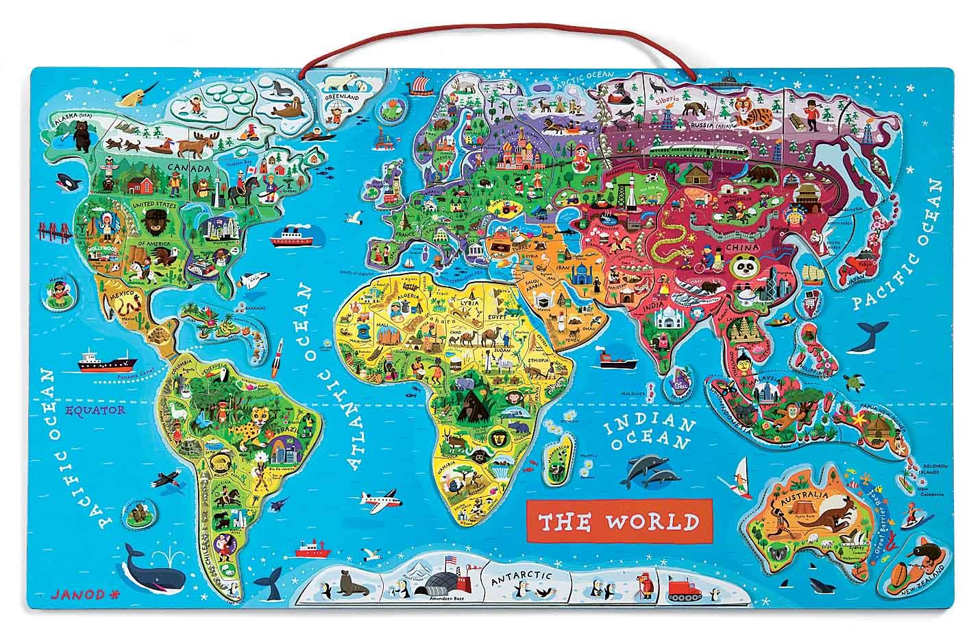 We fell in love with this map puzzle when we saw it you can hang janod magnetic world puzzle english edition gumiabroncs Images