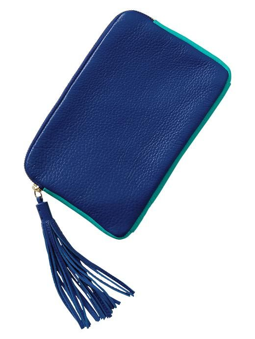 Gap Leather Tassel Clutch