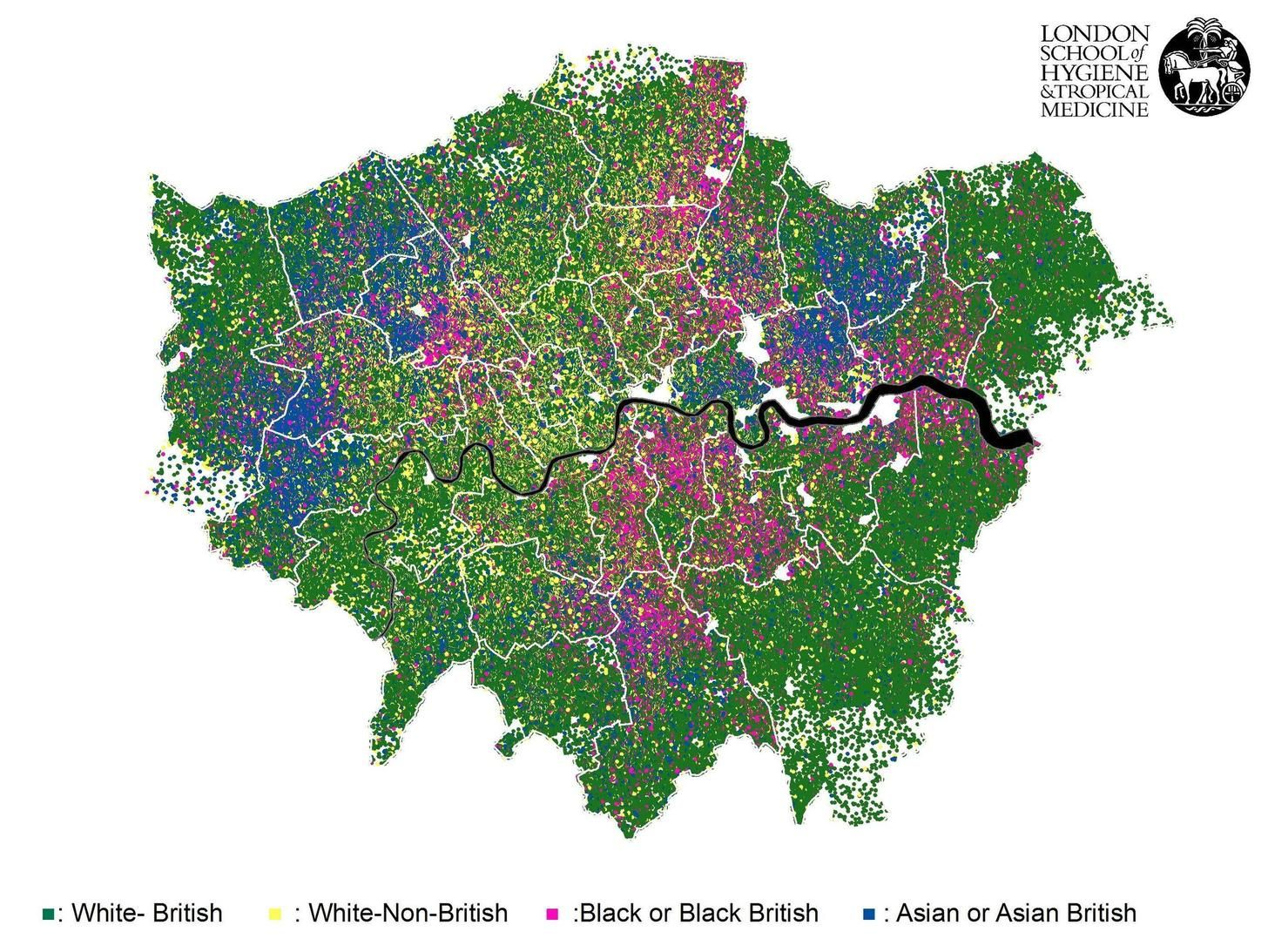 Map of Londonu0027s Ethnicities Map of Londonu0027s