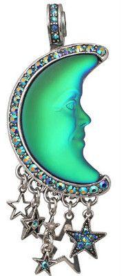KIRKS FOLLY SEAVIEW MOON SHADOW MAGNETIC ENHANCER green glow / silvertone   eBay