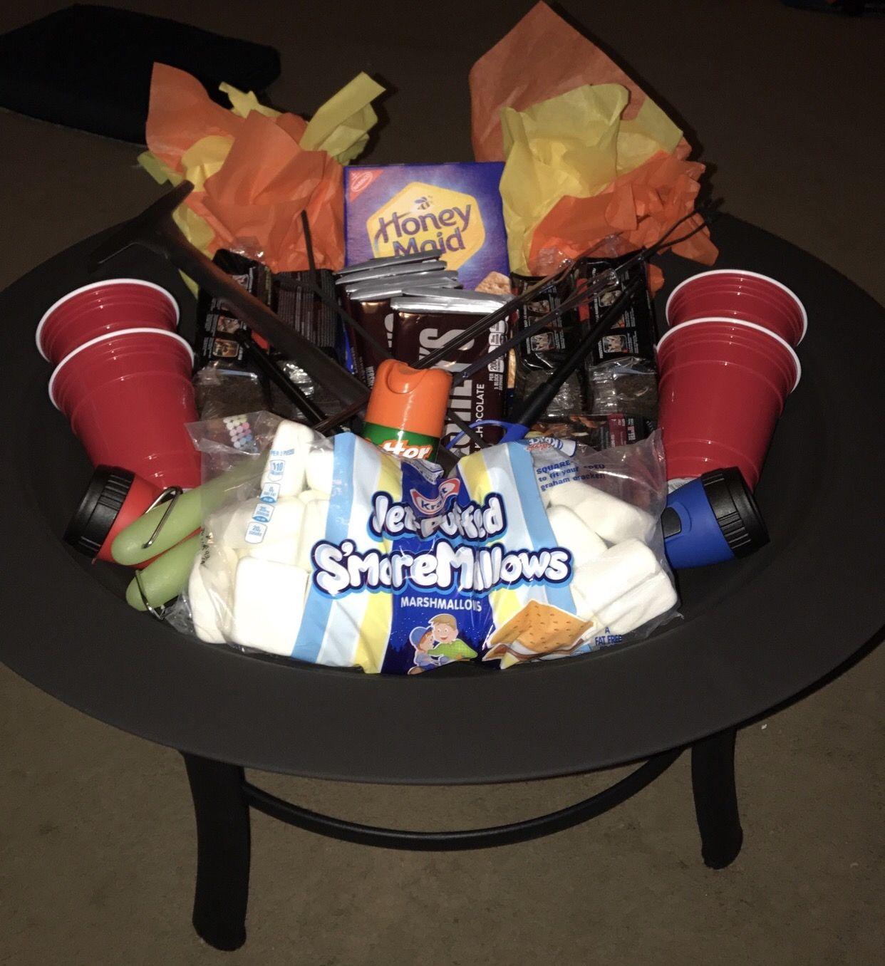 Fire Pit Raffle Basket   Gift Baskets   Pinterest   Raffle ...