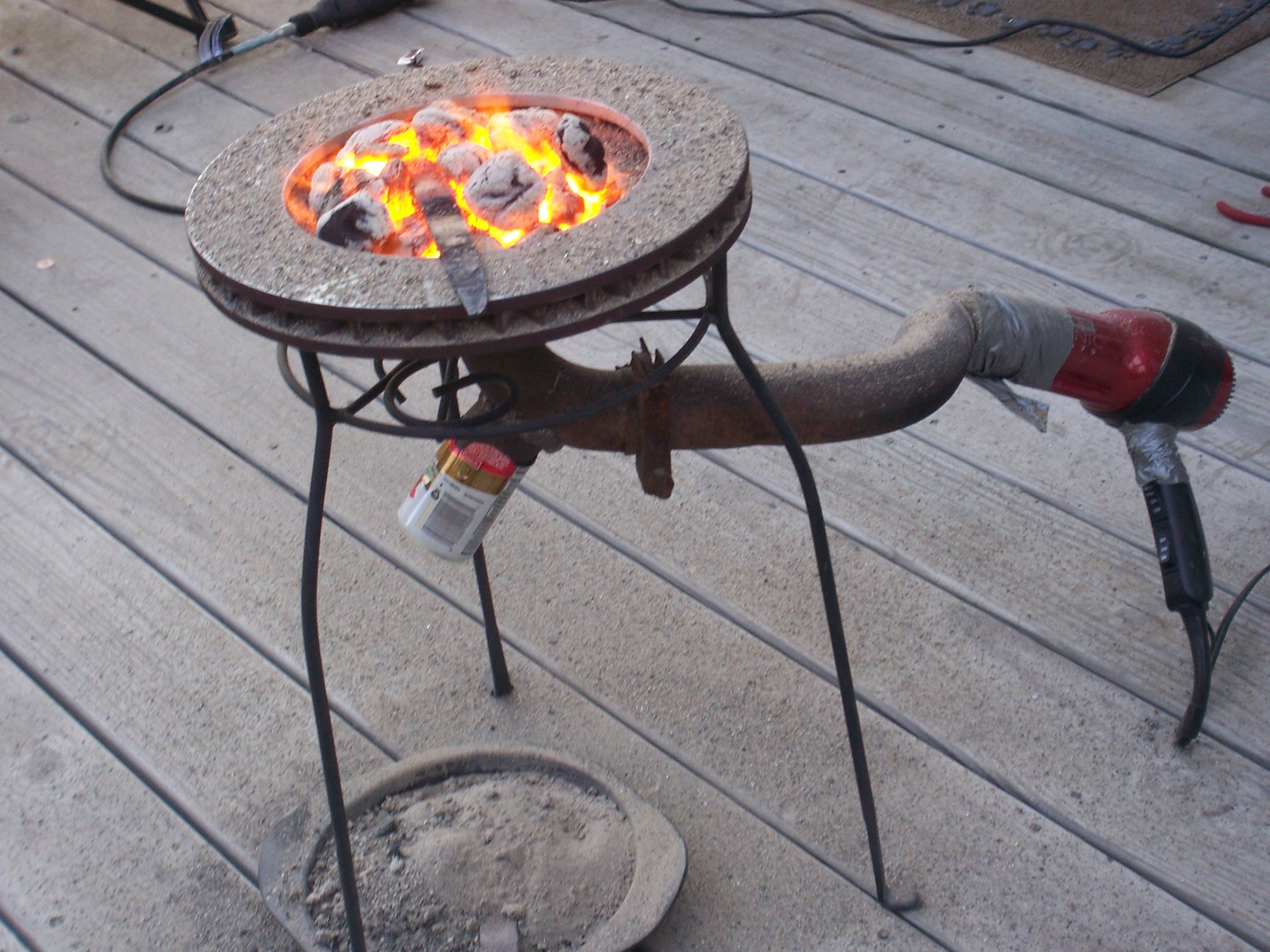 how to make brake drum wood heater