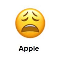 Meaning Of Weary Face Emoji Emoji Emoji Dictionary Smiley Emoji