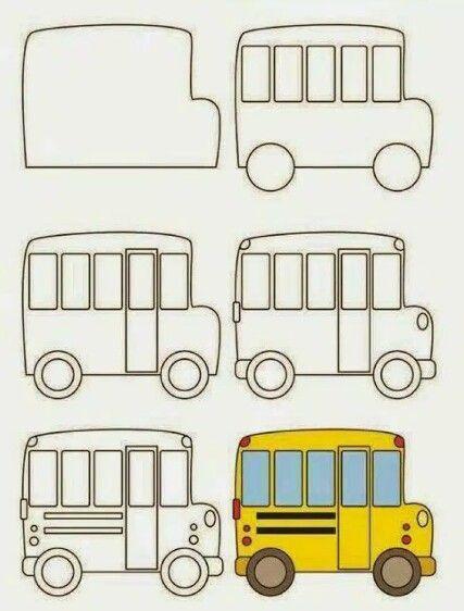 School Bus Drawing Drawings School Bus Drawing Easy Drawings