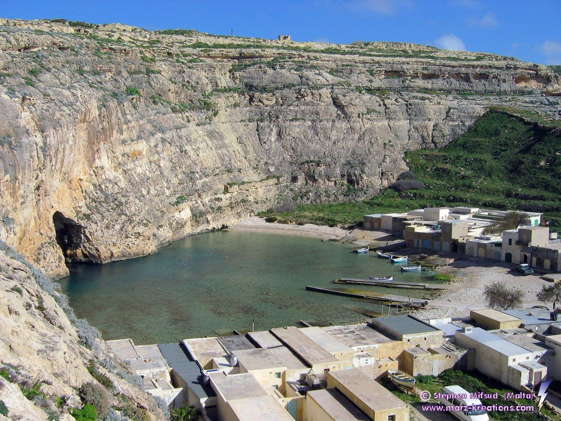 The inland sea next to the blue hole azure window and for Gozo dive centres