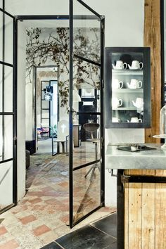 Industrial glazing timber in metal frame google search shared old stone floors glass doors wood planetlyrics Image collections
