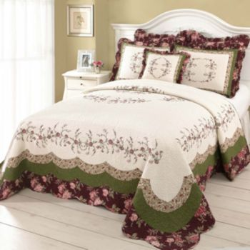 Peking Brooke Quilted Bedspread Coordinates Kohl S Bed Spreads