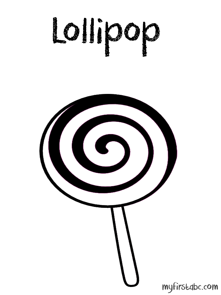 Lollipop Coloring Page Coloring Pages Lollipop Clipart Black And White