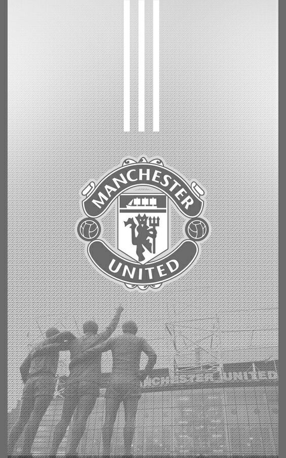 Manchester United 2017/2018 Away Grey Android Wallpaper