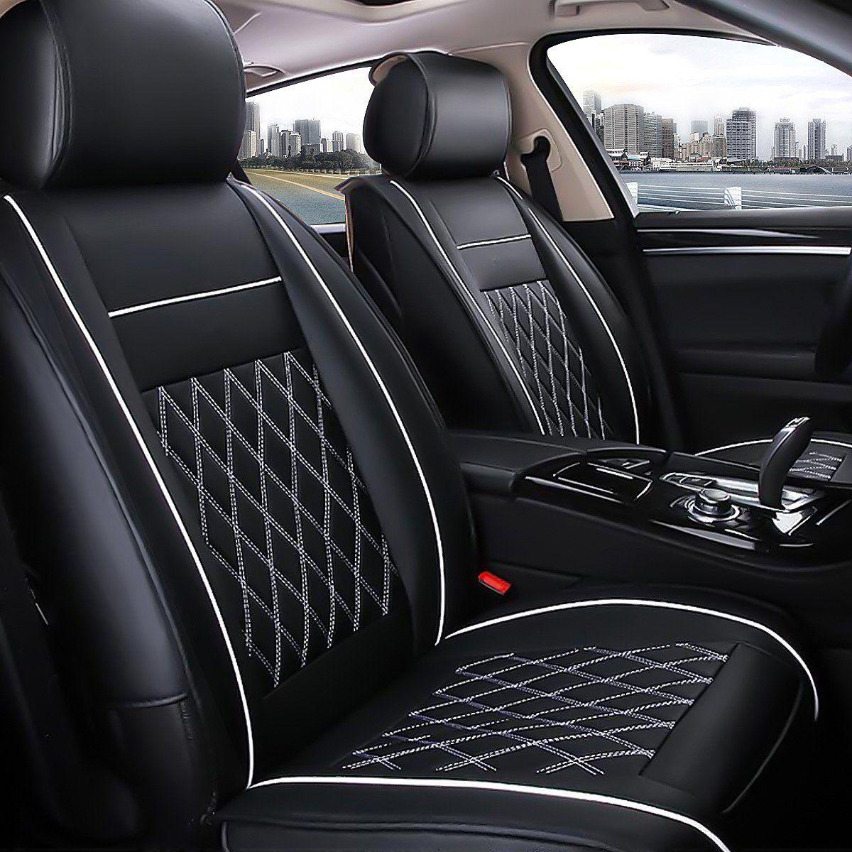 Novashion 7pcs 5 Seat Cover Urethane Leather Front Rear Cushion Pad Armrest For Car Walmart Com In 2021 Leather Car Seats Leather Car Seat Covers Car Seats