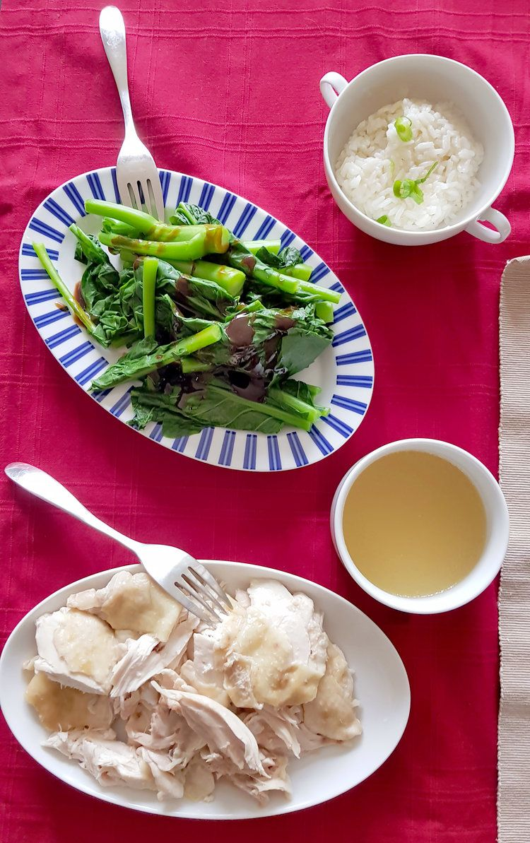 From the easy won ton soup recipe hainan chicken and rice
