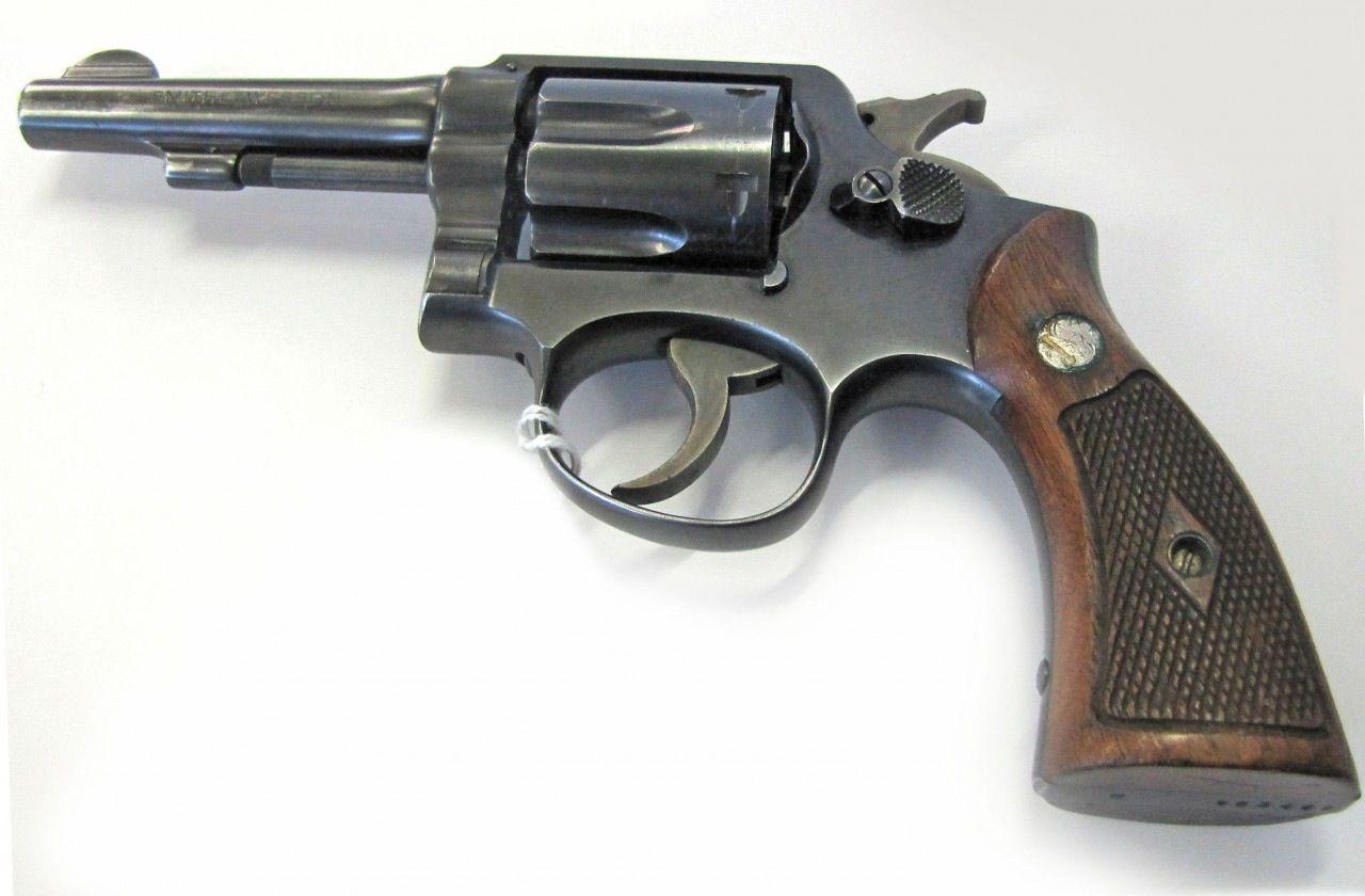 smith wesson model 10 pencil barrel 4 barrel 38 special revolver