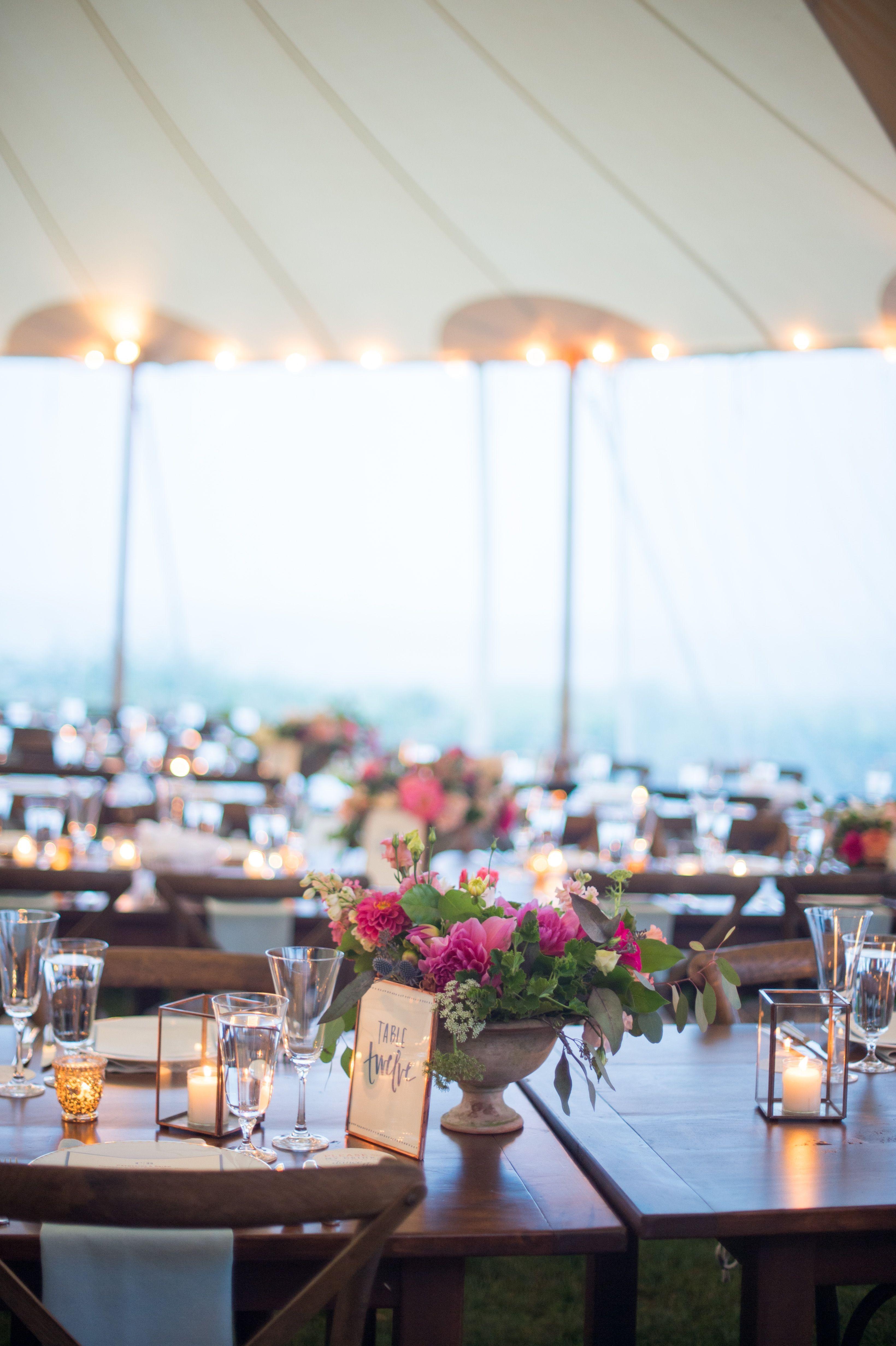 Wedding decorations tent october 2018 brea McDonald photography Kennebunk Maine Wedding Tented Wedding