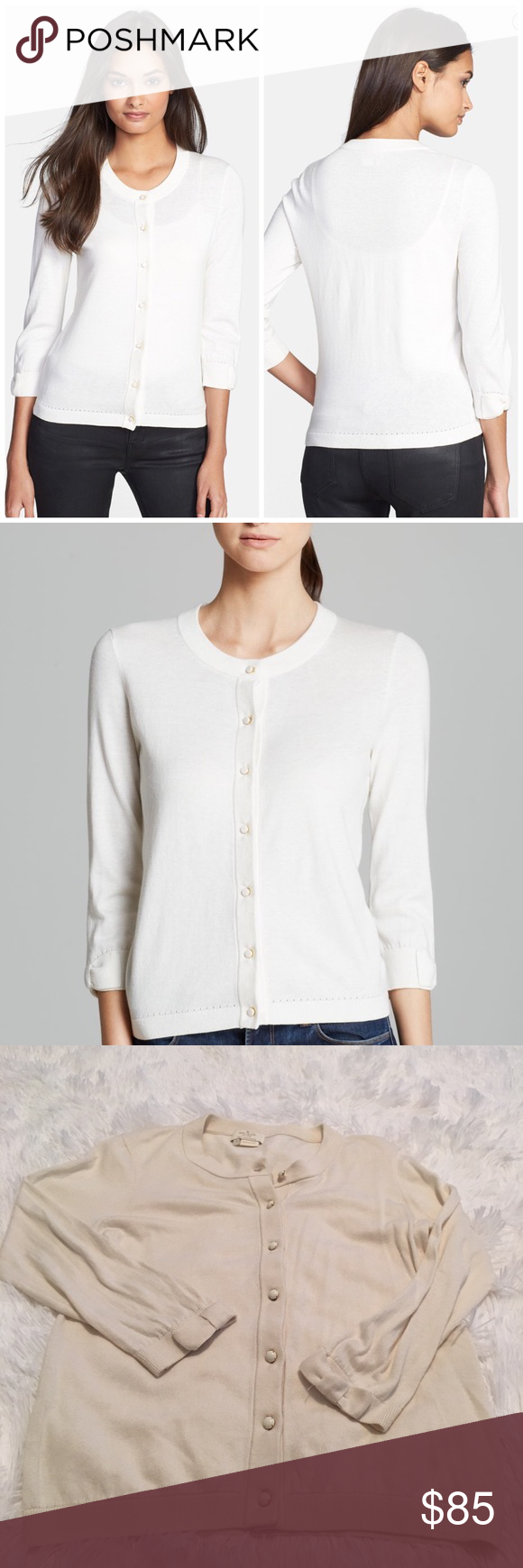 Kate Spade Bow Sleeve Off White Cardigan | D, Sweater cardigan and ...