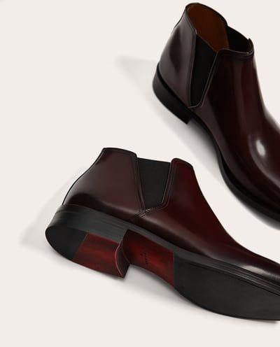 Antik Chaussures Bottes Bordeaux Cuir Homme En Et Bottines TAYHB
