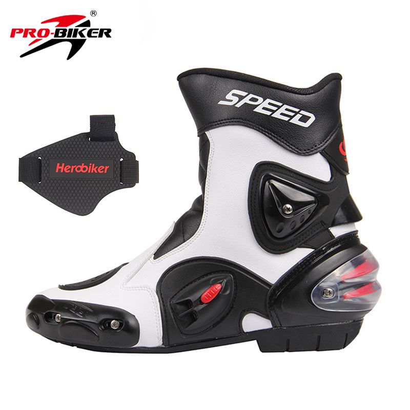 A-Pro Biker Custom Cruiser Motorcycle Motorbike Leather Boots Waterproof Leather 38