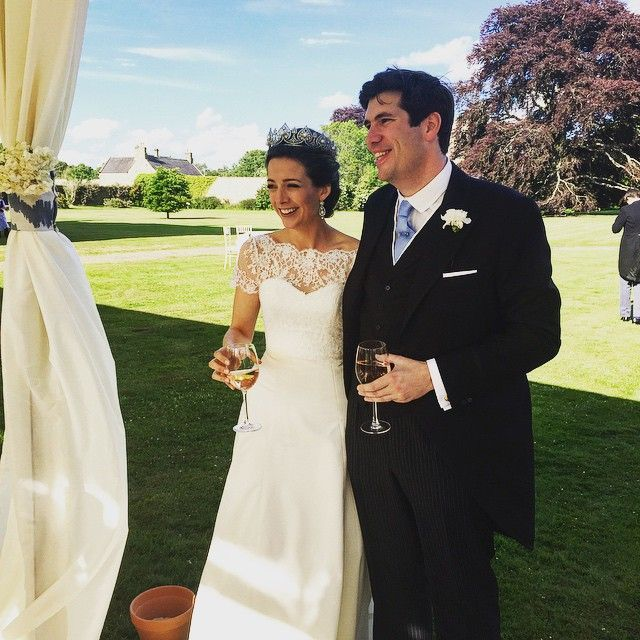 The Hon. Arthur Vesty wed the Hon. Martha Beaumont in June 2015. The bride wore a diamond anthemion tiara.