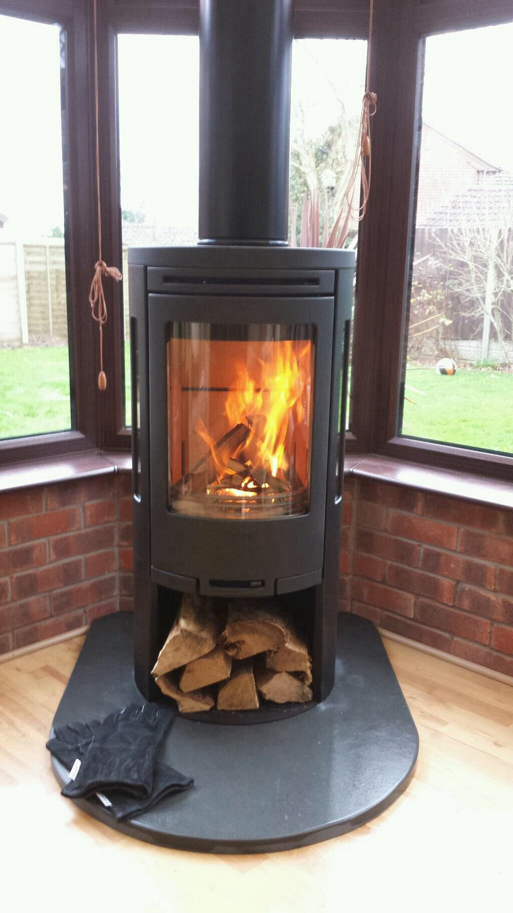 conservatory stove installation contura 550 installed by central