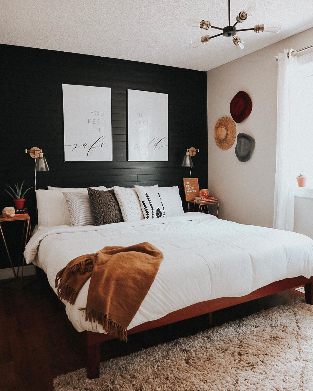 Best Revamped Bedroom • You Guys Black White And Wood Accents Are Giving Me Life Soon Enough 400 x 300