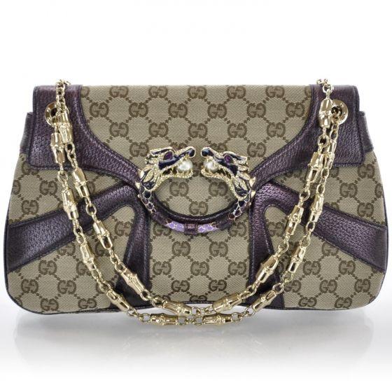 a6ca9e4447a5 GUCCI Monogram Tom Ford Jeweled Dragon Bag | bizarre bags | Gucci ...