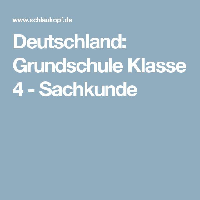Deutschland: Grundschule Klasse 4 - Sachkunde | KIDS.SCHULE ...