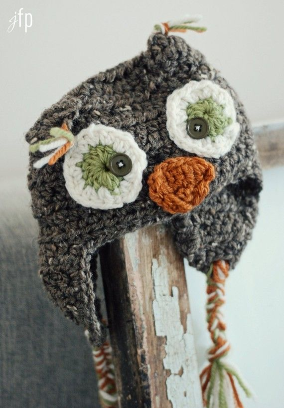 who doesn\'t need an owl hat this winter? @☆ Letrecivette fattoamano ...