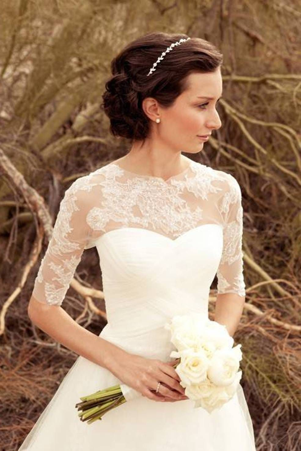 simple elegant wedding dress Elegant Wedding Dresses with Sleeves