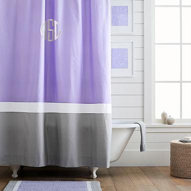 Color Block Shower Curtain Lavender Lavender Shower Curtain
