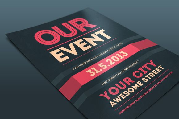 Our Event Flyer PSD Template Adobe Photoshop Event Flyers And Adobe - Event brochure template