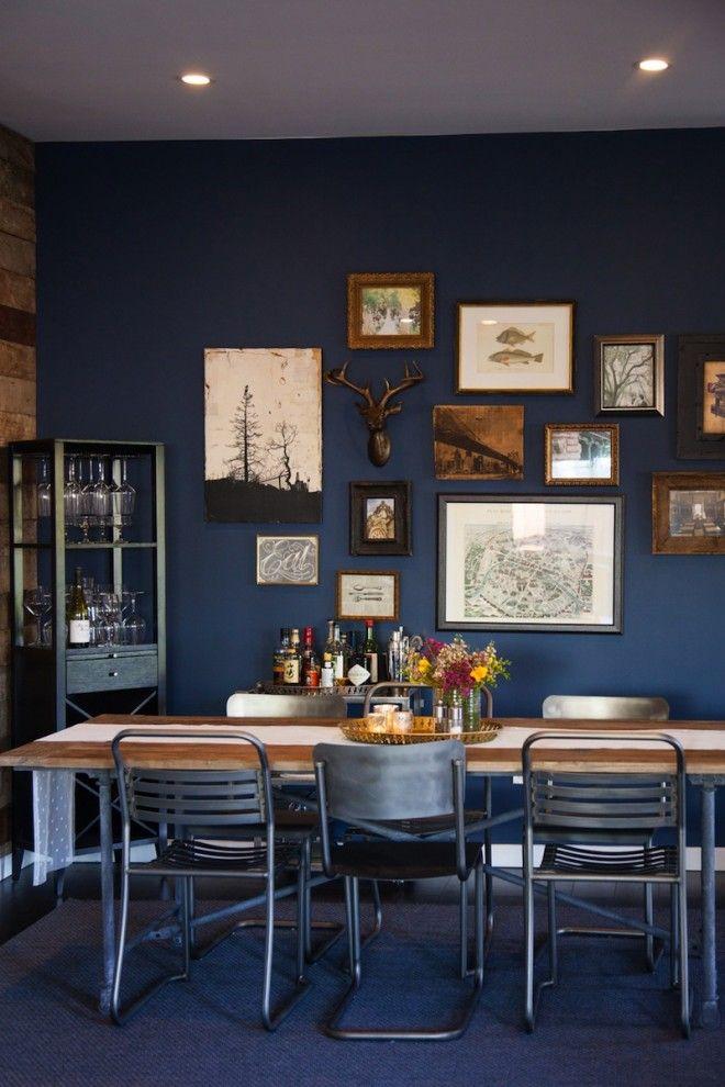 Sneak A Peek Kate S Industrial Chic Living Room Blue Dining