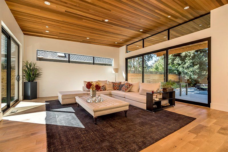 23 Living Rooms With Wooden Ceilings Exuding A Warm Aura Home Design Lover Wooden Ceiling Design Ceiling Design Living Room Ceiling Design
