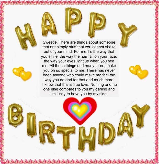 Romantic Happy Birthday Letter Boyfriend Wishes Sweet Words Wisdom Sweet Happy Birthday Wishes For Him