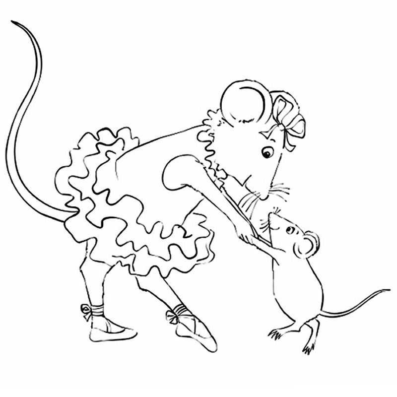 Angelina Ballerina Coloring Pages 26 | Sugarbuns | Pinterest