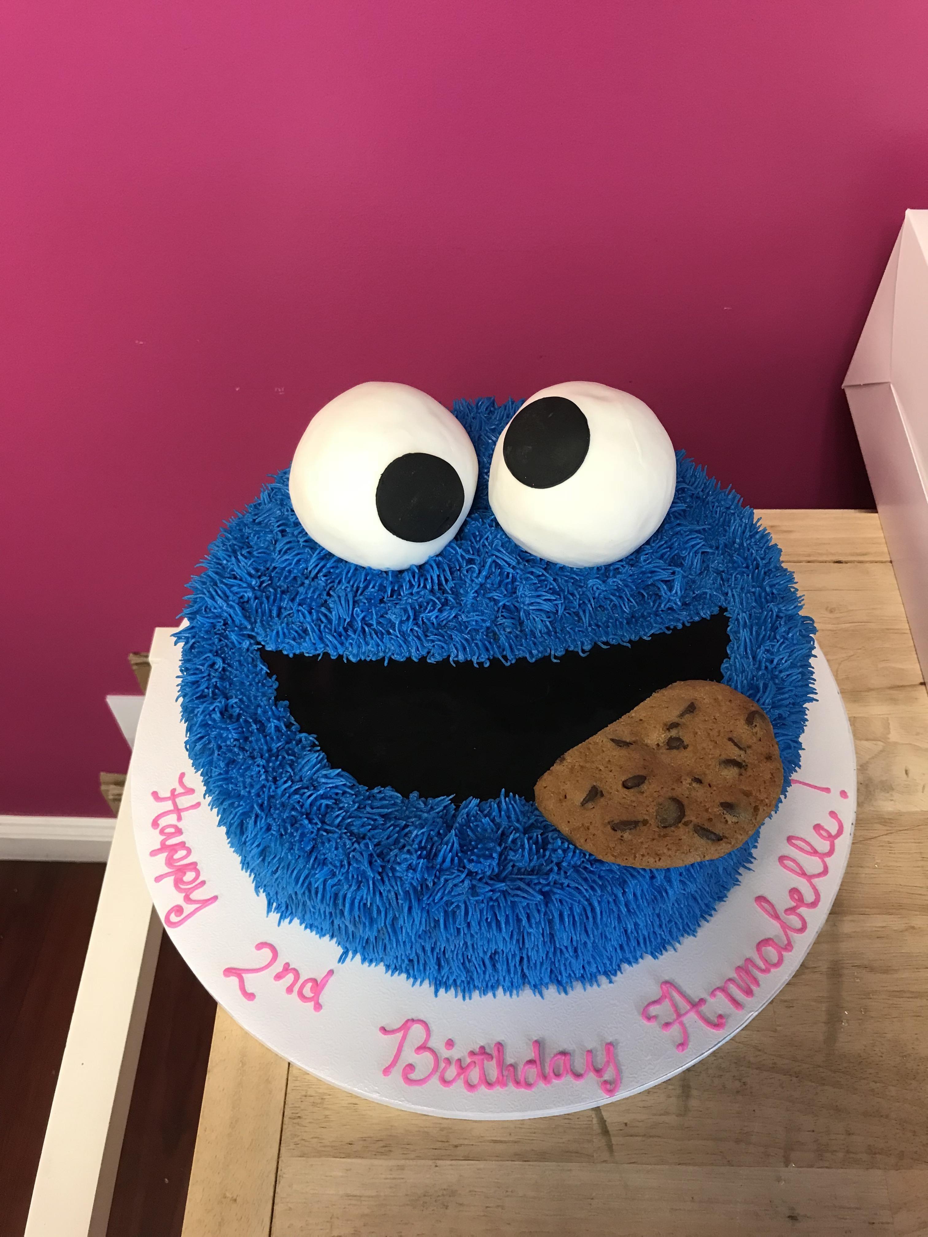 Cookie monster cake cakewin monster cookies cookie