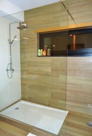 Douche italienne bois id es pour la maison pinterest - Carrelage pour douche italienne ...