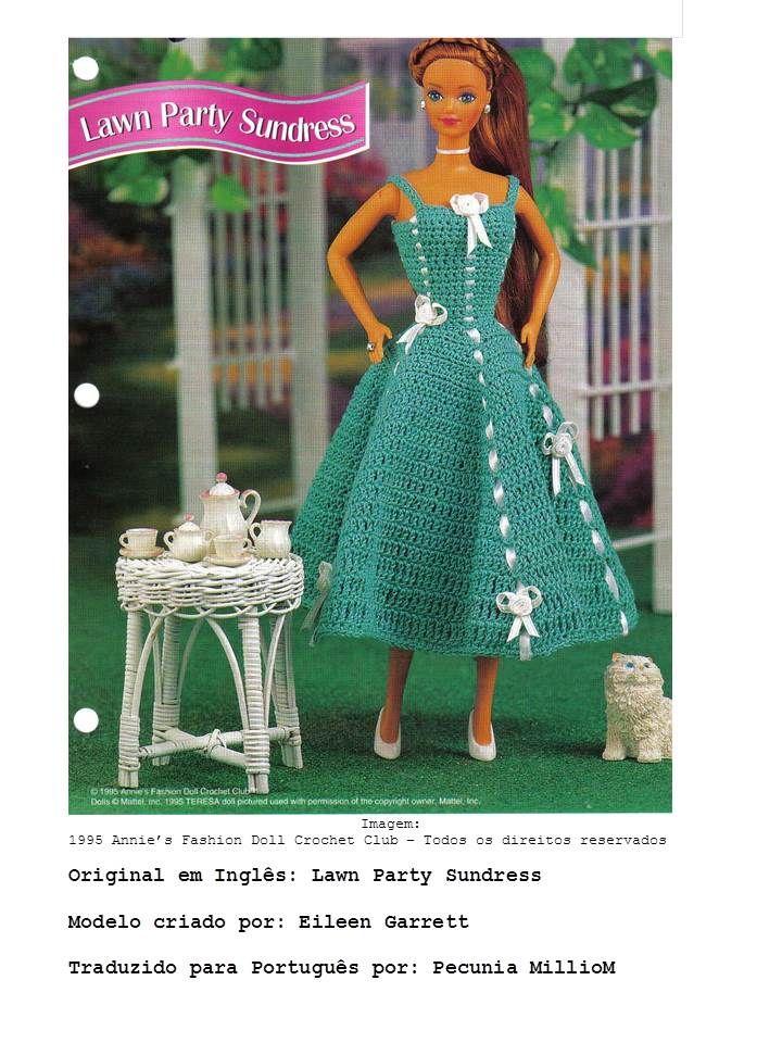 Barbie Crochê Miniaturas e Coisas Mais -               De Tudo Um Pouco e Muito Mais: Como Fazer Um Vestido de Crochê Retrô, Com Passo-a...