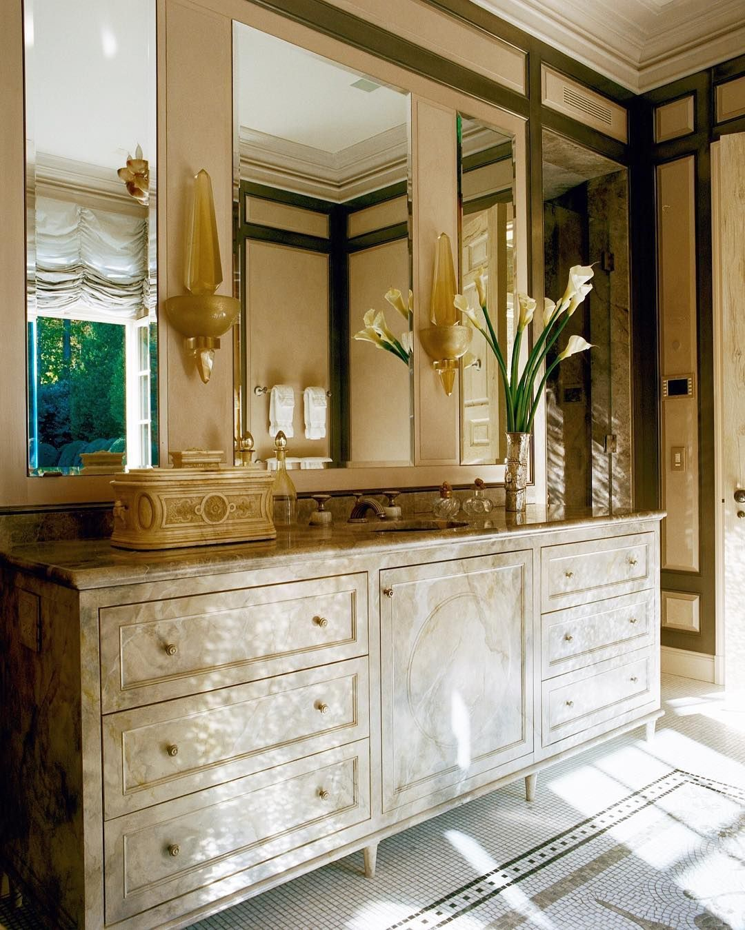 This Master Ladies' Bathroom in Long Island features ...