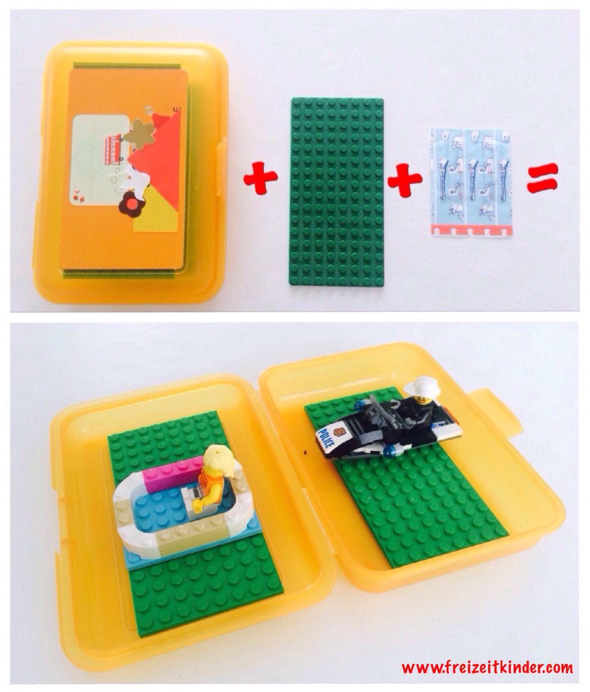 Lego in der brotdose spiele f r unterwegs besch ftigung - Flugzeug basteln mit kindern ...