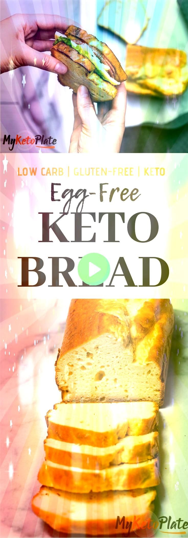 eggfree keto bread is the best bread recipe Ive ever tried and Im sure youll love it too It has no eggy taste has the perfect texture for sandwiches or toasted with butte...