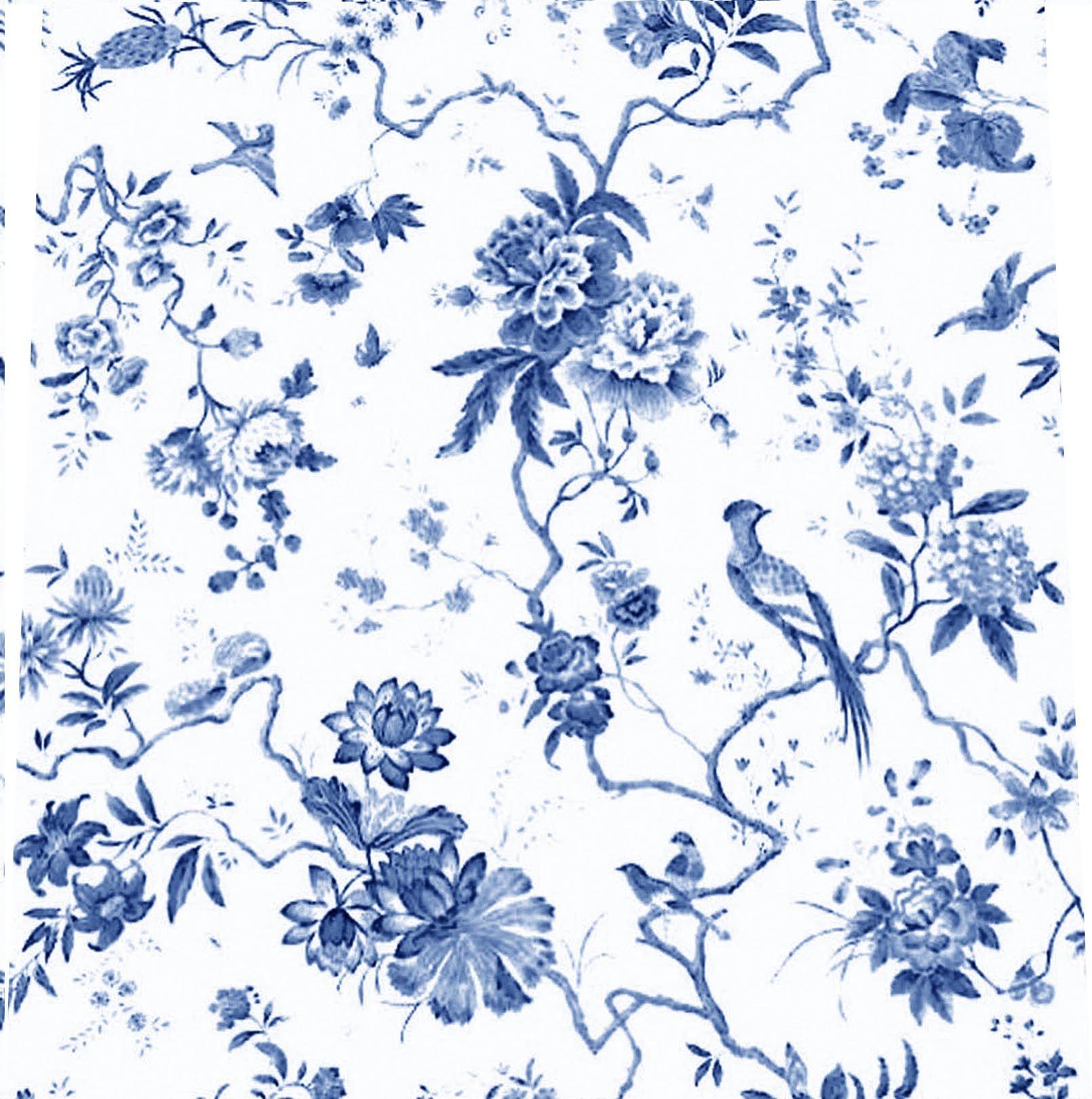 blue toile birds | Make Me A Dress | Pinterest | Wallpaper ...