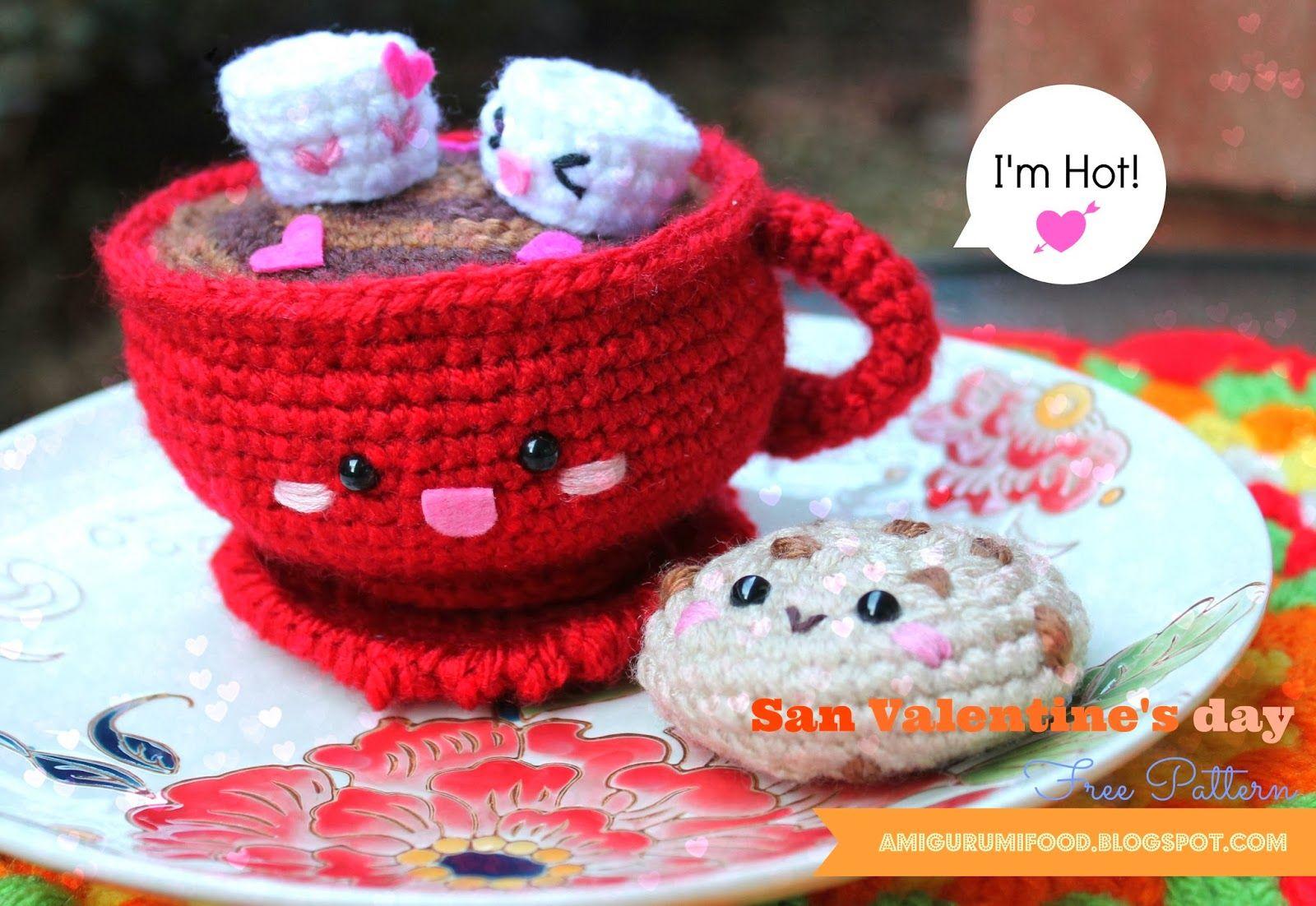 San Valentine\'s day Hot Chocolate-Free pattern (Amigurumi Food ...