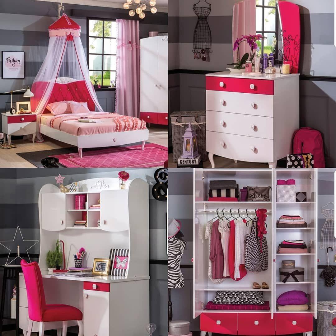غرف للبنات من تشيلك التركية الآن لدينا في ازدان مول الطابق الأول Mob 0097466639800 Tel 0097440178802 Kidsfurnit Bedroom Bed Design Bed Design Cool Furniture