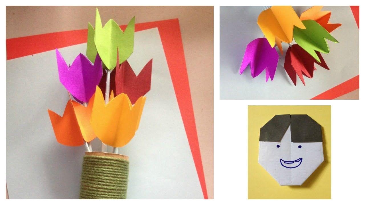 Paper tulip flower  Crafts Kid and Tulip