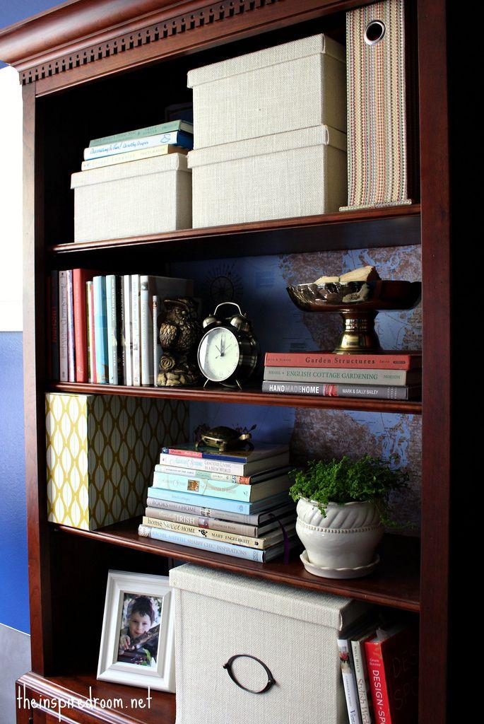 Dark Wood Bookcase Dark Wood Shelves Office Makeover Dark Wood Bookcase