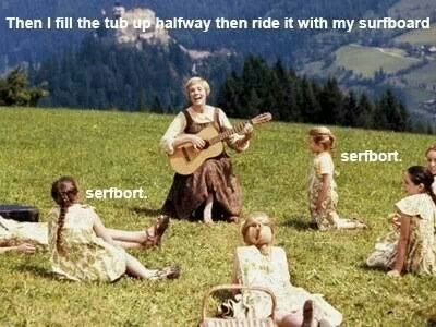 Surfboard Surfbort Beyonce Sound Of Music Funny Funny Music