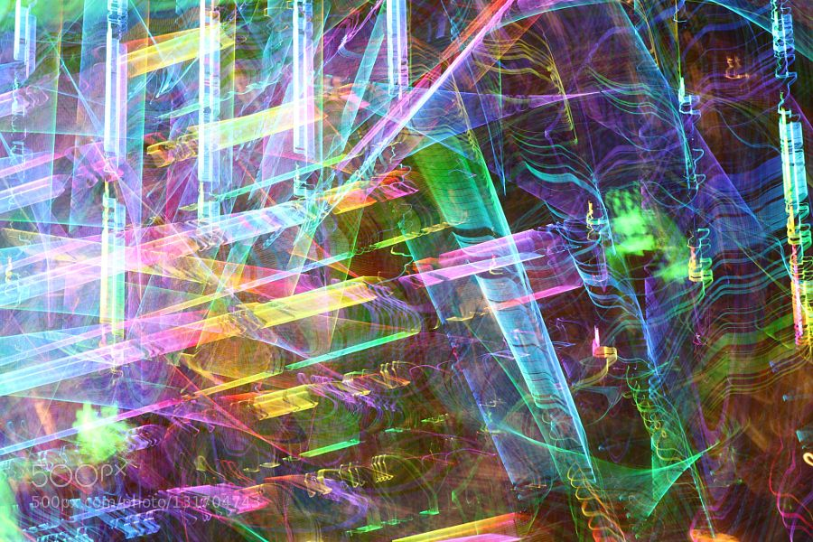 Shanghai 5308 - Pinned by Mak Khalaf (C) 2015 all rights Michele Wambaugh Abstract abstractartcitylight_paintinglights by MicheleWambaugh