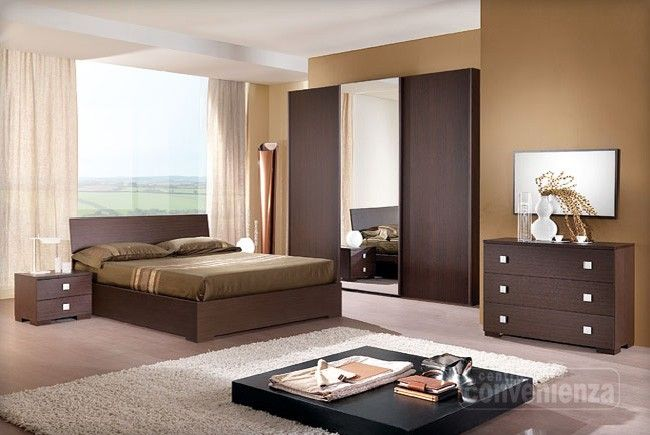 CITY - Camera da letto matrimoniale completa con letto contenitore ...